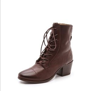Frye Lace Up Booties